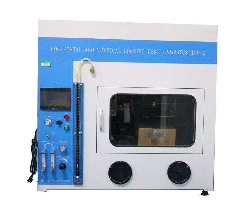 PLC Control Flammability Testing Equipment , Horizontal And Vertical Burning Test Apparatus